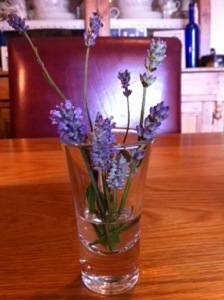 Image of lavender flowers in a small vase